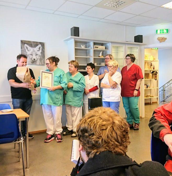 Hadsel ASVO har fått diplom fra Norske Vaskeriers Kvalitetstilsyn