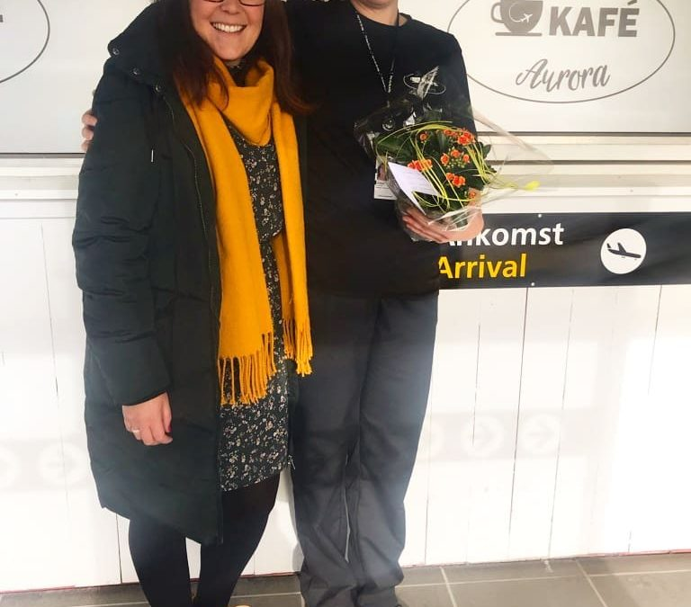 Blomst til Kafé Aurora